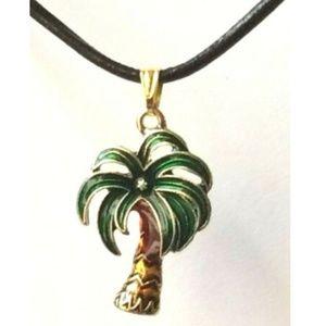 Jewelry - Gold Coconut Palm Tree Necklace Island Beach 18-21